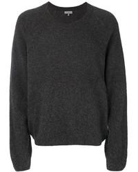 Jersey con cuello circular de punto en gris oscuro de Lanvin