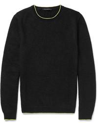 Jersey con cuello circular de punto negro