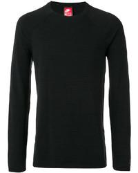 Jersey con cuello circular de punto negro de Nike