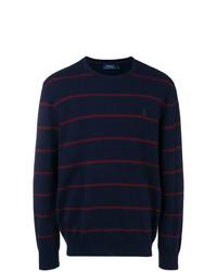 Jersey con cuello circular de rayas horizontales azul marino de Ralph Lauren