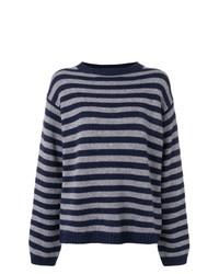 Jersey con cuello circular de rayas horizontales azul marino de Sofie D'hoore