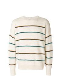 Jersey con cuello circular de rayas horizontales en beige de Isabel Marant