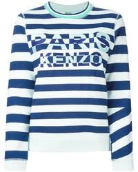 Jersey con cuello circular de rayas horizontales en blanco y azul de Kenzo