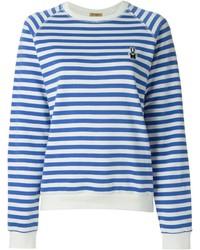 Jersey con cuello circular de rayas horizontales en blanco y azul de Peter Jensen