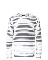 Jersey con cuello circular de rayas horizontales en blanco y negro de A.P.C.