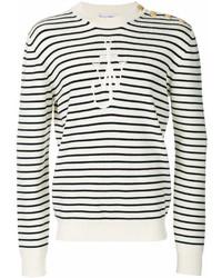 Jersey con cuello circular de rayas horizontales en blanco y negro de J.W.Anderson