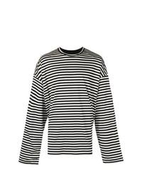 Jersey con cuello circular de rayas horizontales en blanco y negro de Juun.J