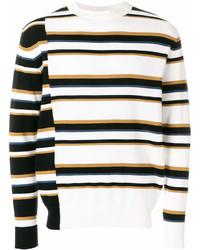 Jersey con cuello circular de rayas horizontales en blanco y negro de MAISON KITSUNÉ
