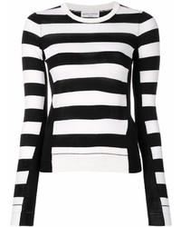 Jersey con cuello circular de rayas horizontales en blanco y negro de Sonia Rykiel