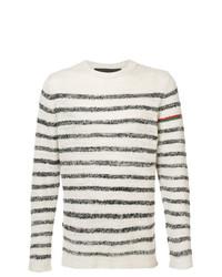 Jersey con cuello circular de rayas horizontales en blanco y negro de The Elder Statesman