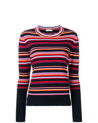 Jersey con cuello circular de rayas horizontales en multicolor de Tory Burch