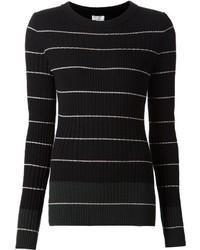 Jersey con cuello circular de rayas horizontales en negro y blanco de Maiyet