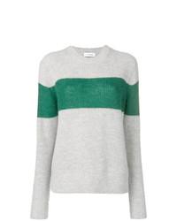 Jersey con cuello circular de rayas horizontales gris de Calvin Klein