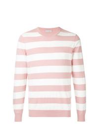 Jersey con cuello circular de rayas horizontales rosado de Gieves & Hawkes
