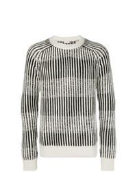 Jersey con cuello circular de rayas verticales gris