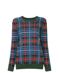 Jersey con cuello circular de tartán en multicolor de Macgraw