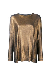 Jersey con cuello circular dorado de Avant Toi
