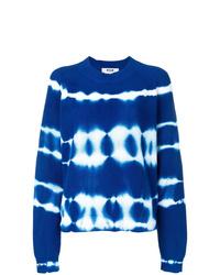Jersey con cuello circular efecto teñido anudado azul de MSGM