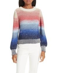 Jersey con cuello circular efecto teñido anudado en multicolor