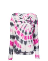 Jersey con cuello circular efecto teñido anudado en multicolor de Prada
