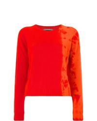Jersey con cuello circular efecto teñido anudado naranja de Suzusan