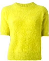 Jersey con cuello circular en amarillo verdoso de MICHAEL Michael Kors