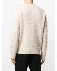 Jersey con cuello circular en beige de Aspesi