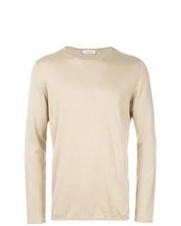 Jersey con cuello circular en beige de Laneus