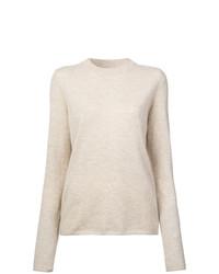 Jersey con cuello circular en beige de Mansur Gavriel