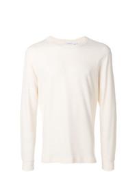 Jersey con cuello circular en beige de Sunspel