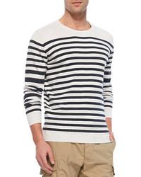 Jersey con cuello circular en blanco y negro