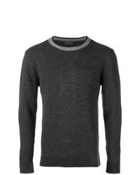 Jersey con cuello circular en gris oscuro de Altea