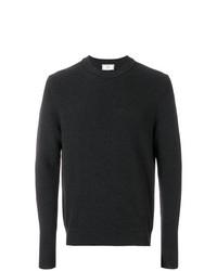 Jersey con cuello circular en gris oscuro de AMI Alexandre Mattiussi