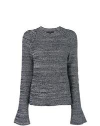 Jersey con cuello circular en gris oscuro de Derek Lam