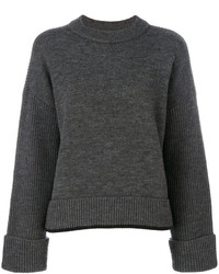 Jersey con cuello circular en gris oscuro de Dsquared2