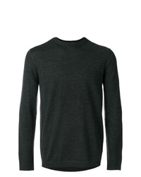 Jersey con cuello circular en gris oscuro de Emporio Armani