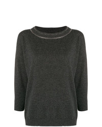 Jersey con cuello circular en gris oscuro de Fabiana Filippi