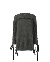 Jersey con cuello circular en gris oscuro de Fendi