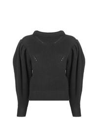 Jersey con cuello circular en gris oscuro de Isabel Marant