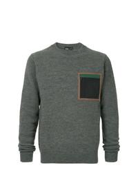 Jersey con cuello circular en gris oscuro de Kolor