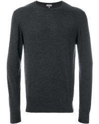 Jersey con cuello circular en gris oscuro de Lanvin