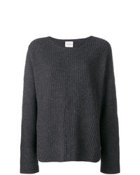 Jersey con cuello circular en gris oscuro de Le Kasha