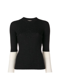 Jersey con cuello circular en gris oscuro de MAISON KITSUNE