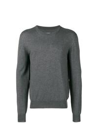 Jersey con cuello circular en gris oscuro de Maison Margiela