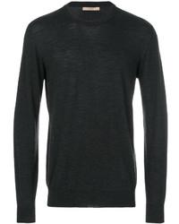 Jersey con cuello circular en gris oscuro de Nuur