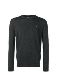 Jersey con cuello circular en gris oscuro de Polo Ralph Lauren