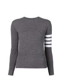 Jersey con cuello circular en gris oscuro de Thom Browne