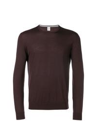 Jersey con cuello circular en marrón oscuro de Eleventy