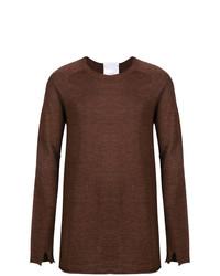 Jersey con cuello circular en marrón oscuro de Lost & Found Rooms
