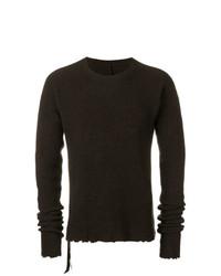 Jersey con cuello circular en marrón oscuro de Unravel Project